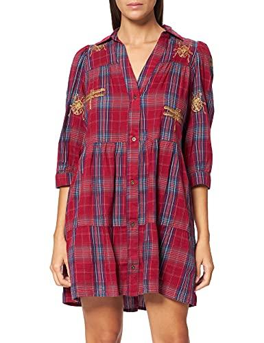 Desigual Vest_Dora Maar Vestido Casual, Rojo, XL para Mujer