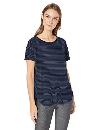 Amazon Essentials Patterned Studio Relaxed-Fit Crewneck T-Shirt fashion-t-shirts, Azul Marino/Rayas, US (EU XS-S)