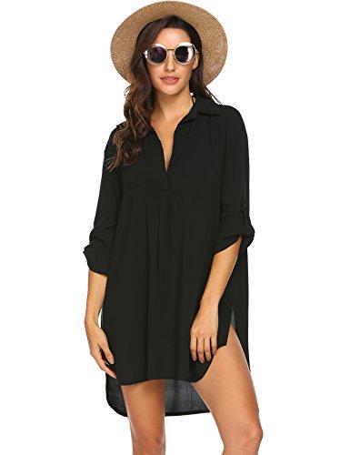 UNibelle Vestido de Playa, Vestido Camisero para Mujer, Traje de baño para Mujer, Camisa para Cubrir la Playa, Bikini, Traje de baño, Vestido de Playa, Poncho de Playa, Verano