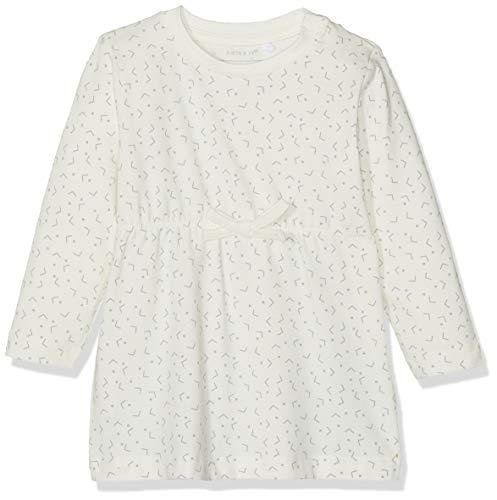 NAME IT NBFDELUCIOUS LS Tunic Noos Vestido, Blanco (Snow White), 62 cm para Bebés