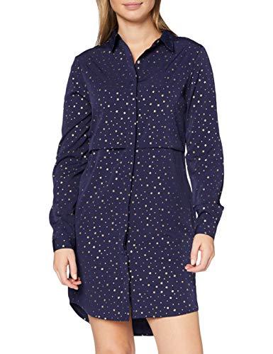 Marca Amazon - find. Vestido Camisero para Mujer, Azul (Navy), 36, Label: XS