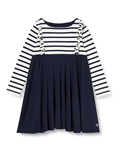 Petit Bateau 5583901 - Vestido para niña Marshmallow/Smoking 5 años