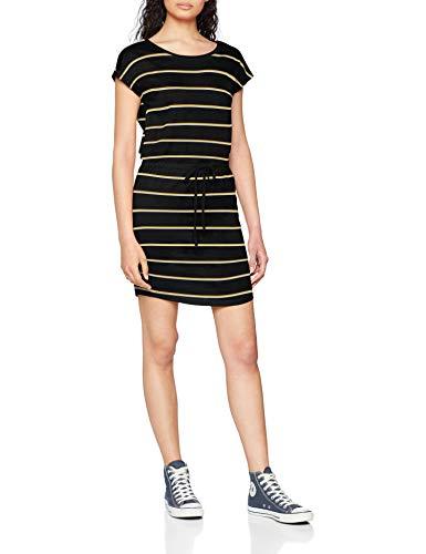 Only Onlmay S/s Dress Noos Vestido, Multicolor (Black Stripes: Double Yolk Yellow/Cl. Dancer), 40 (Talla del Fabricante: Medium) para Mujer