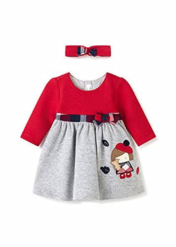 Mayoral Vestido Desagujado con Diadema Bebe Niña Rojo (18 meses)