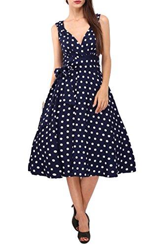 Vestido de Mujer 40s 50s Swing Vintage Rockabilly Ladies Retro Prom Party Plus Size Vestidos