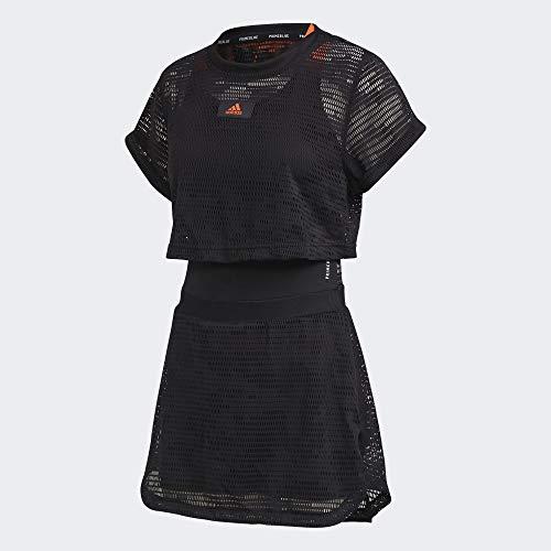 adidas Dress P.Blue Vestido, Mujer, Negro, S