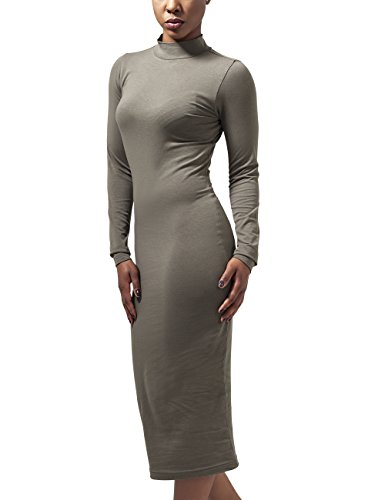 Urban Classics Ladies Turtleneck L/S Dress Vestido, Grün (Olive 176), L para Mujer