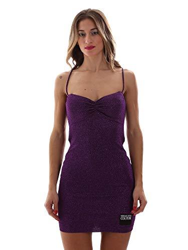 VERSACE JEANS COUTURE Abito Vestido de Fiesta, Morado (Viola 313), 42 (Talla del Fabricante: 46) para Mujer