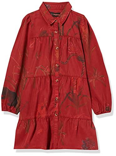 Desigual Vest_VERVENA Vestido Casual, Rojo, 11-12 Años para Niñas