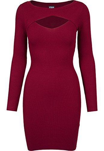 Urban Classics Ladies Cut out Dress Vestido, Rojo (Borgoña 606), M para Mujer