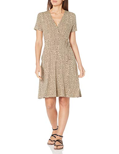 Amazon Essentials Vestido de Manga Falsa Dresses, Mini Leopardo, XXL