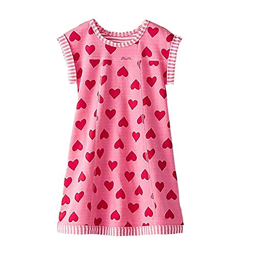VIKITA Vestido para Niñas Algodón Princesa Primavera Otoño Casuales Bebe Niñas MS0320 8T