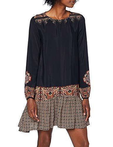Desigual Vest_Praga Vestido Casual, Negro, XL para Mujer
