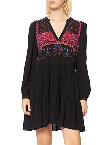 Desigual Vest_solsona Vestido Casual, Negro, L para Mujer