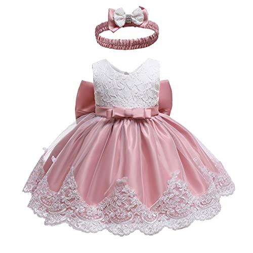 Vestido de Princesa Niña, Bowknot Vestido de Fiesta Niña,Vestidos para Ninas para Boda,Vestido Ceremonia Niña para Niños de 0 a 6 Años