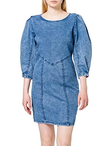 Only Onlventura Life Dnm Dress Qyt Vestido, Mezclilla De Color Azul Claro, L para Mujer