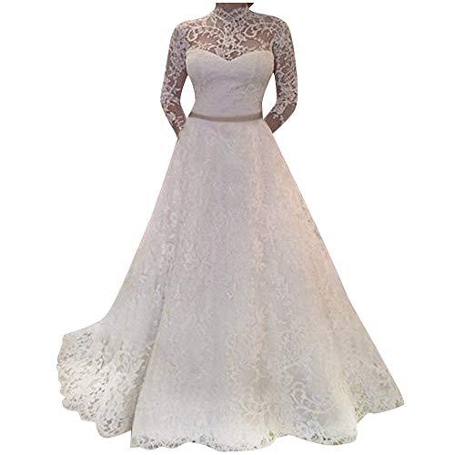 Vestido de Novia de Matrimonio de Princesa de Marfil Blanco para Mujer Fiesta Nupciales Formal