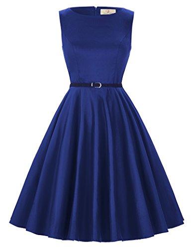 Grace KARIN - Vestido clásico de Audrey Hepburn con estilo clásico vintage de los años 50 y 60. Cl6086-54 XS