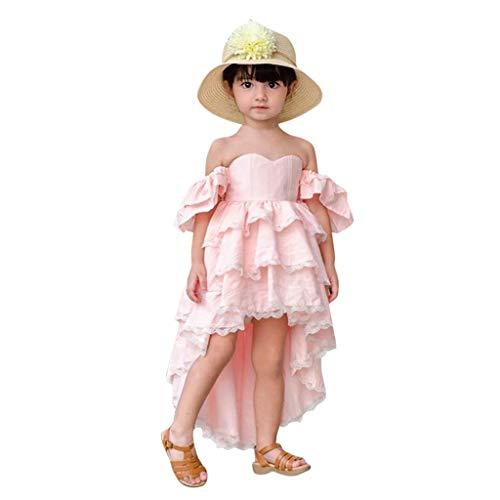 K-youth® Ropa de Bebe Niña de Verano Vestido Niña Fiesta Sin Tirantes Irregular Hemos Ropa de Niña a la Moda Barata 2019 Elegante Vestidos de Princesa para Boda del Partido Chicas
