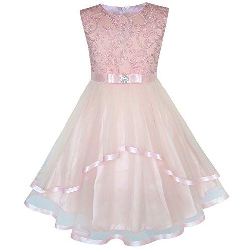 Vestido para niña Flor Sonrojo Ceñido Boda Fiesta Dama de Honor 8 años