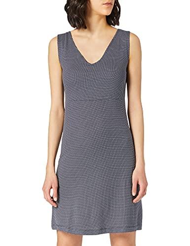 Tom Tailor 1024074 Jersey Vestido, 26025-Estampado de Lunares Blancos y Marinos, 40 para Mujer