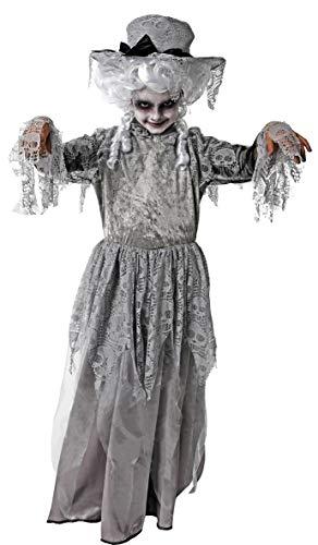 Gojoy Shop- Disfraz de Zombi Victoriana para Niños y Niñas Halloween Carnaval, (Contiene:Sombrero y Vestido.4 Tallas Diferentes) (10-12 AÑOS)
