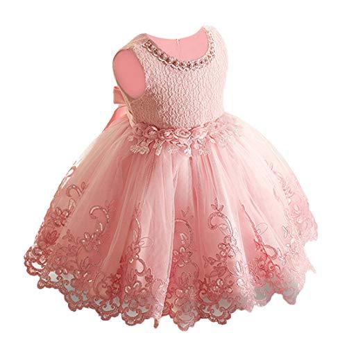 LZH Vestido Formal de Niña Bautizo Bautizo Princesa Boda Vestido de Cumpleaños