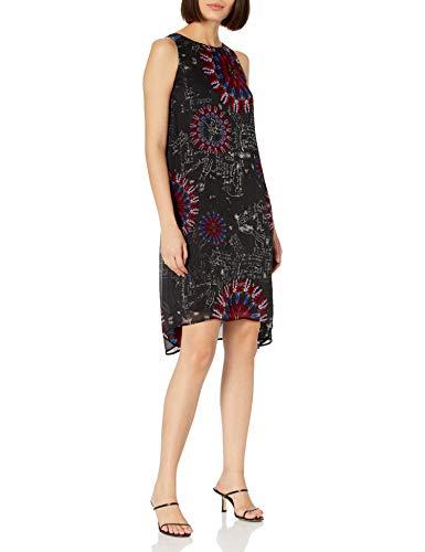 Desigual Vest_Sicilia Vestido Casual, Negro, XL para Mujer