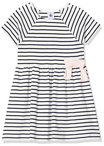 Petit Bateau 5283801 Vestido, Multicolor (Marshmallow/Smoking Bek), 18-24 Meses (Talla del Fabricante: 24meses) para Niñas
