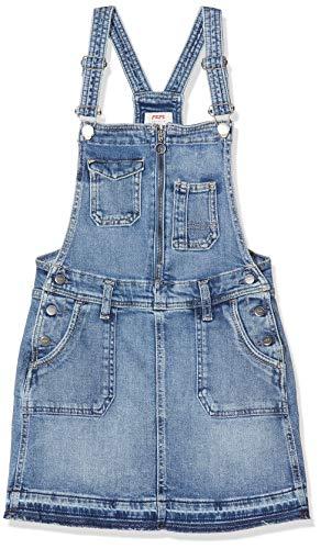 Pepe Jeans Kaia Worker Vestido, Azul (Medium Used 000), 17-18 años (Talla del Fabricante: 18Y/188) para Niñas