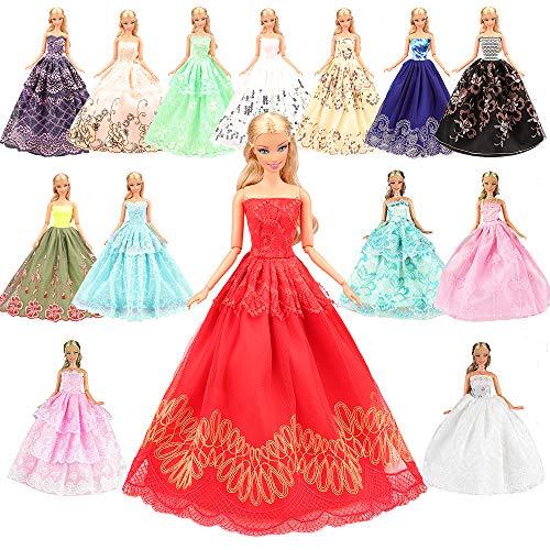 Miunana 5 Novia Hermoso Vestidos de Noche Hechos a Mano Ropa Vestir de la Boda Fiesta para 11.5 Pulgadas / 28 - 30cm Muñeca Doll Regalo