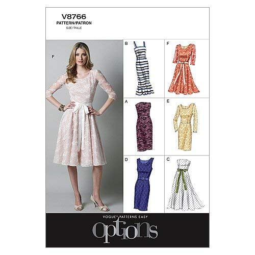 VOGUE PATTERNS V8766 - Patrones de Costura para Vestidos de Mujer (Talla AA: 36-42)
