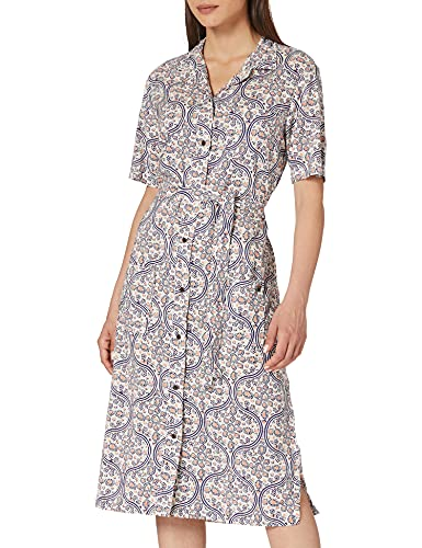 Superdry Printed Shirtdress Vestido, Estampado Crema, XL para Mujer