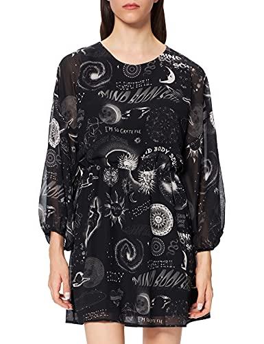Desigual Vest_California Vestido Casual, Negro, XL para Mujer
