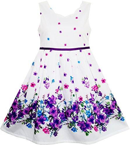 Vestido para niña Elegante Princesa Blooming Flor en Viento 12 años