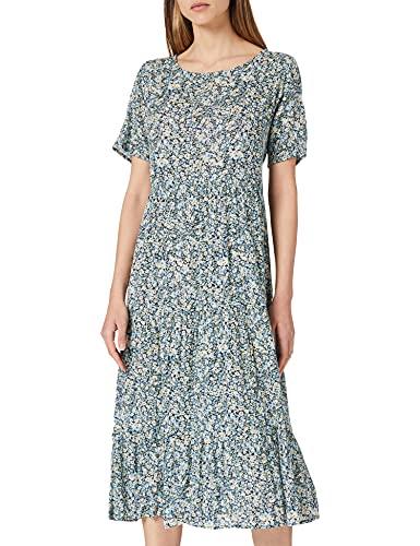 Only Onlabigail Life S/S Midi Dress Wvn Noos Vestido, Night Sky/AOP: Abigail Mini Flowers, 38 para Mujer