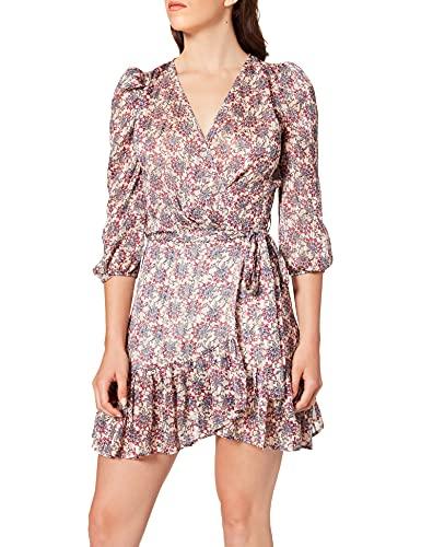 Morgan Robe Imprimee 212-roma.f Vestido, Multico, 34 para Mujer